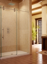"1/2"" Clear Tempered Glass Pipeline Series 90 Degree Shower Enclosure with solid Stainless Steel hardware"