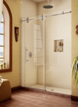 "1/2"" Clear Tempered Glass Pipeline Series Inline Shower Enclosure with solid Stainless Steel hardware"